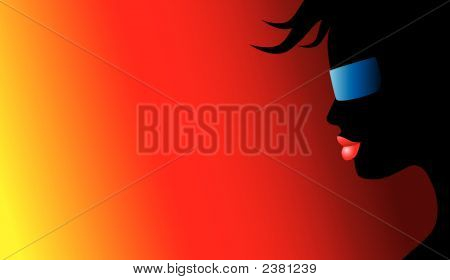 Silhouette Wearing Shades (Replacing: 1835438)