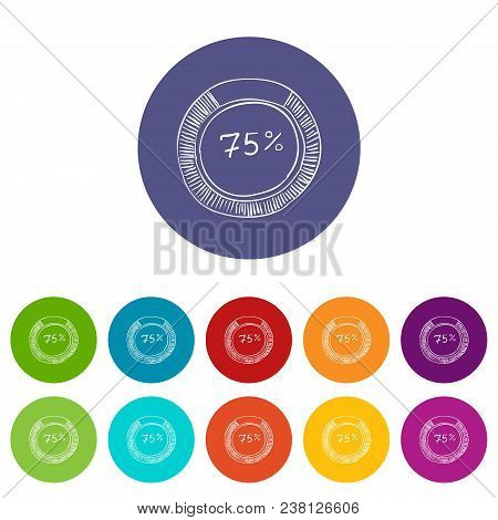 Percent Showing Infographics. Hand Drawn Illustration Of Percent Showing Vector Infographics For Web
