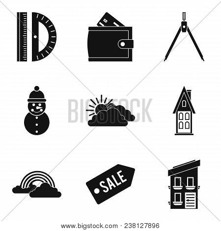 Great House Icons Set. Simple Set Of 9 Great House Vector Icons For Web Isolated On White Background