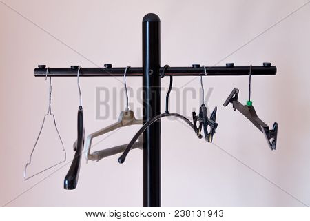Clothes Rack. Various Clothes Hangers, Clothes Hooks, Plastic And Iron