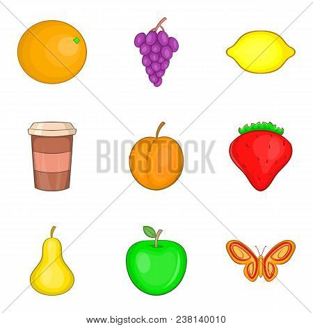 Drink Admiration Icons Set. Cartoon Set Of 9 Drink Admiration Vector Icons For Web Isolated On White