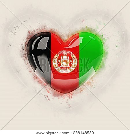 Heart With Flag Of Afghanistan