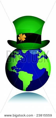St Patrick day concept with green hat