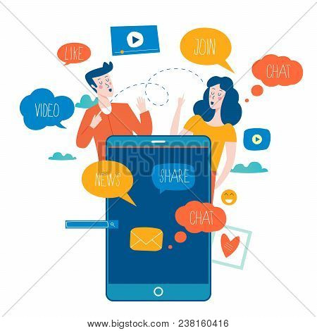 Social Media, Networking, Chatting, Texting, Communication, Online Community, Posts, Comments, News