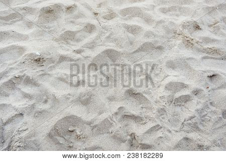 Abstract, Sand Texture Abstract Background. Sandy Beach For Background. Top View. Space For Your Tex