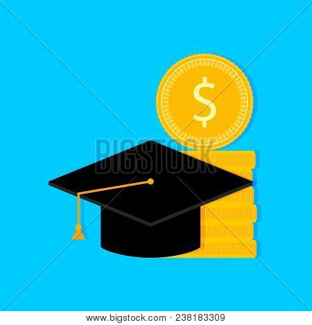 Investments In Future. Scholarship And Grant Finance, Degree University, Vector Illustration