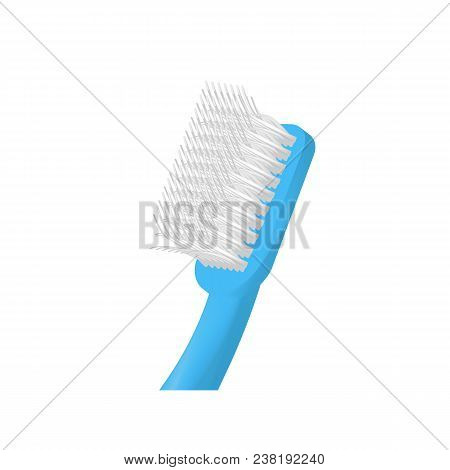 Head Of Toothbrush Icon. Realistic Illustration Of Head Of Toothbrush Vector Icon For Web