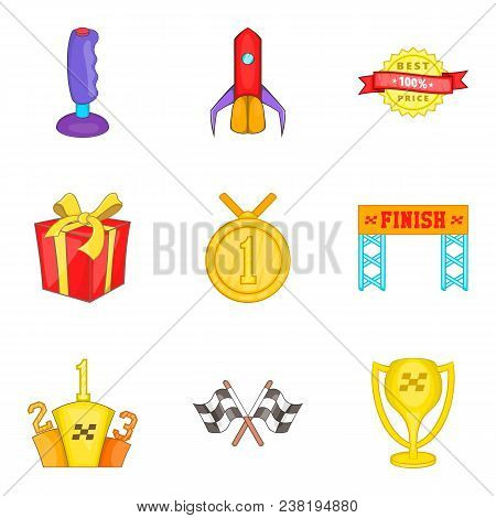 Honorary Diploma Icons Set. Cartoon Set Of 9 Honorary Diploma Vector Icons For Web Isolated On White