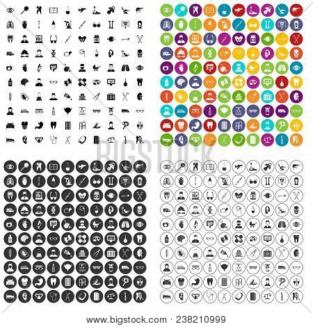 100 Medical Checkup Icons Set Vector In 4 Variant For Any Web Design Isolated On White