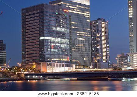 Yokohama, Japan : April28, 2018 - Nissan Motors Global Headquarters Building At Yokohama, Japan Take