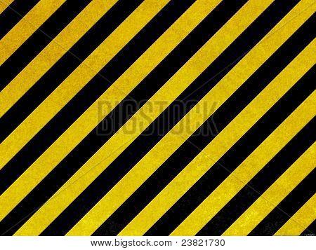 Old yellow hazard stripes