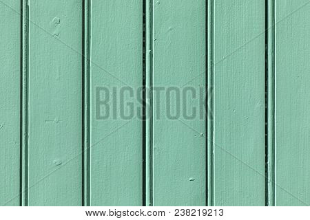 harmonic green wooden wall background in detail poster