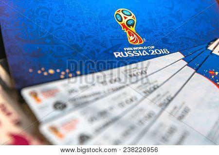 Fifa Venue Ticketing Centre, Moscow, Russia - April 2018.