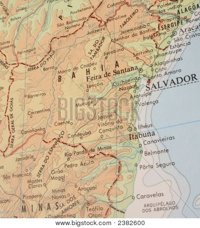Map Of Bahia, Brazil - 3