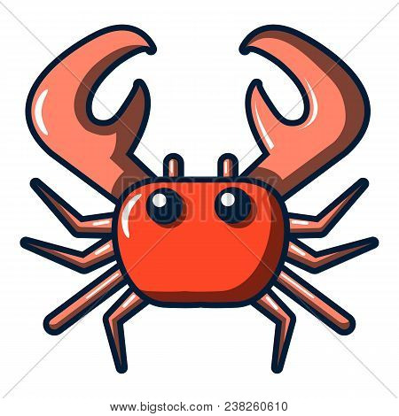 Crab Icon. Cartoon Illustration Of Crab Vector Icon For Web