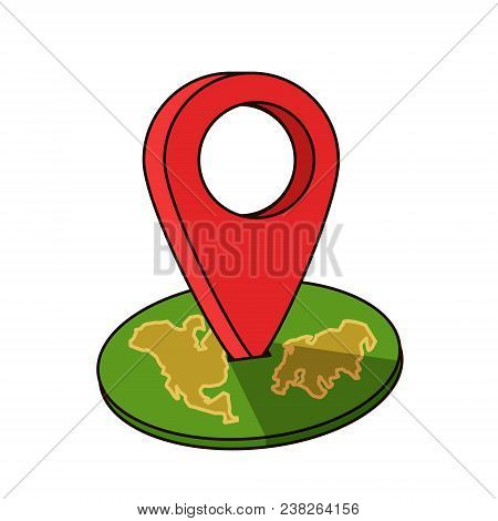 Around The World Travelling By Plane, Airplane Trip In Various Country, Travel Pin Location On A Glo