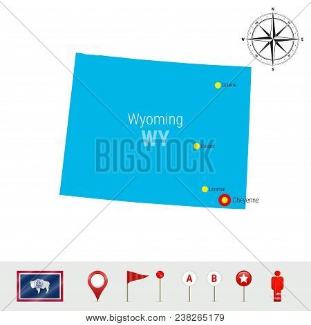 Wyoming Vector Map Vector & Photo (Free Trial) | Bigstock