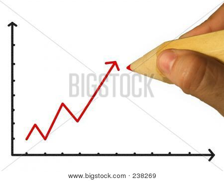 Pencil & Hand & Chart