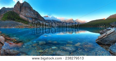Moraine Lake In Banff National Park, Canada, Valley Of The Ten Peaks