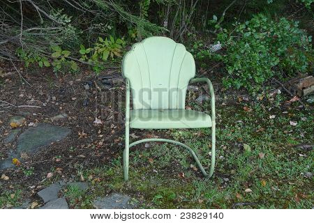 old style outdoor patio chair