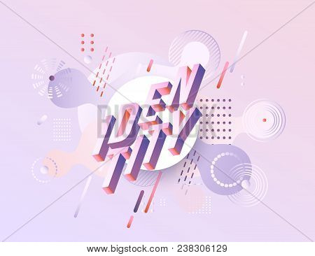 Trendy Identity Poster, Banner Background Template Vibrant Gradient Purple Red Violet Color Abstract