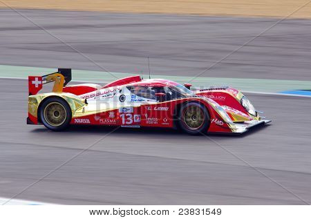 ESTORIL - SEPTEMBER 25: The Toyota Lola B10/60 of the Swiss team Rebellion Racing piloted by Andrea Belicchi in the LMS race