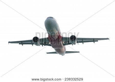Airplane, Airplane Taking Off, Airplane Isolated On White Background