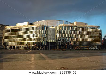 Warsaw, Poland - October 16, 2005: Metropolitan Office Building Designed By Sir Norman Foster Locate