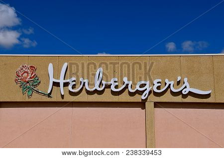 Minnesota, Minnesota, April 26, 2018: The Logo Represents Herberger`s, A Chain Of Department Stores