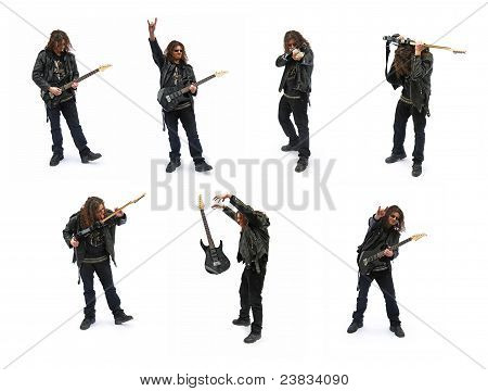 Heavy Metal Guitar Player, Poses