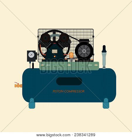 Reciprocating Piston Air Compressor, Energy Machine For Compressing And Supplying Air Or Gas Under P