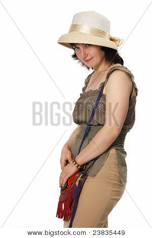 Beauty Women And Lady`s Hat