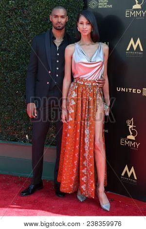 LOS ANGELES - APR 27:  Lamon Archey, fiance at the 2018 Daytime Emmy Awards - Creative at Pasadena Civic Auditorium on April 27, 2018 in Pasadena, CA