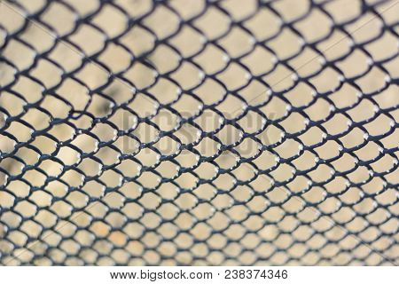 De Focused Metal Net Rust. Abstract Background, Chain-link Fencing. Rusty Chain Link. Wire Mesh Fenc