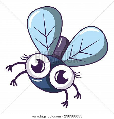 Tropical Fly Icon. Cartoon Illustration Of Tropical Fly Vector Icon For Web