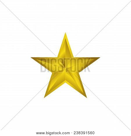 Gold Star Icon Vector. Yellow Stars Pictogram Art. Star Symbol Illustration.star Champion.