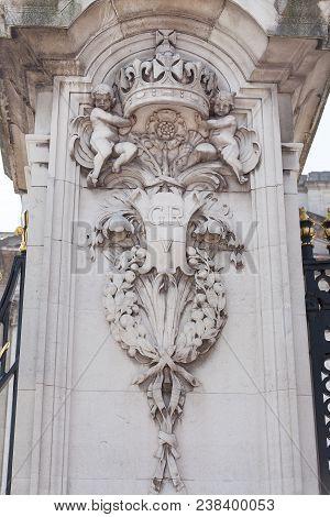 London, United Kingdom - June 21, 2017: Buckingham Palace, Details Of Decorative Fence. Palace Is Th