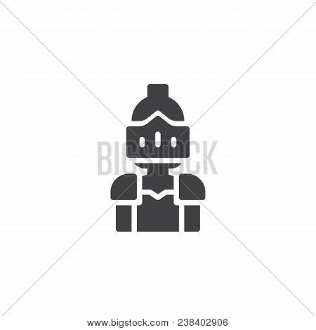 Knight Vector Icon. Filled Flat Sign For Mobile Concept And Web Design. Warrior Knight Simple Solid