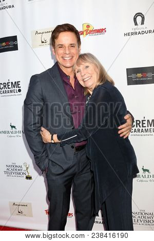 LOS ANGELES - APR 25:  Christian LeBlanc, Marla Adams at the NATAS Daytime Emmy Nominees Reception at Hollywood Museum on April 25, 2018 in Los Angeles, CA