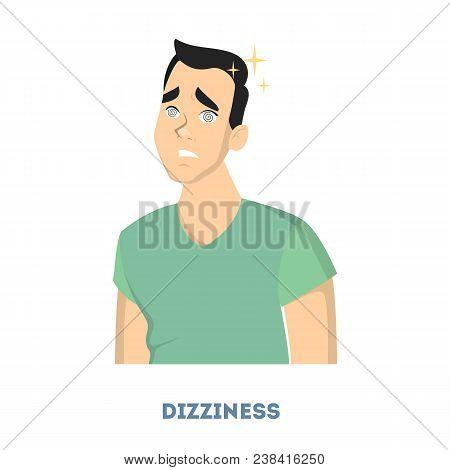 Man Diabetes Symptoms. Having Dizziness Problems Or Anemia.