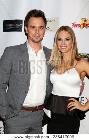 LOS ANGELES - APR 25:  Darin Brooks, Kelly Kruger at the NATAS Daytime Emmy Nominees Reception at Hollywood Museum on April 25, 2018 in Los Angeles, CA
