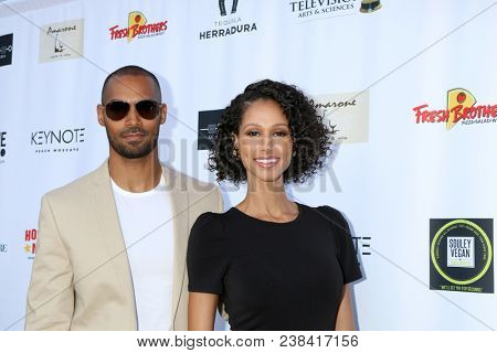 LOS ANGELES - APR 25:  Lamon Archey, Mercedes Cornett at the NATAS Daytime Emmy Nominees Reception at Hollywood Museum on April 25, 2018 in Los Angeles, CA
