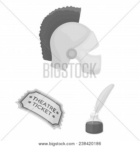 Theatrical Art Monochrome Icons In Set Collection For Design.theater Equipment And Accessories Vecto