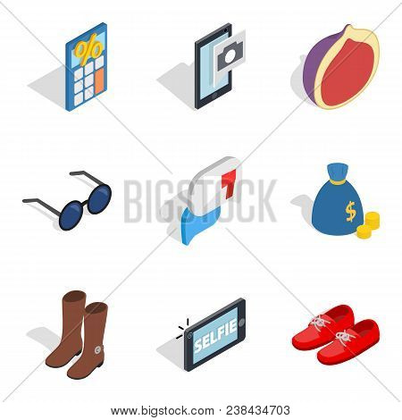 Unmarried Icons Set. Isometric Set Of 9 Unmarried Vector Icons For Web Isolated On White Background