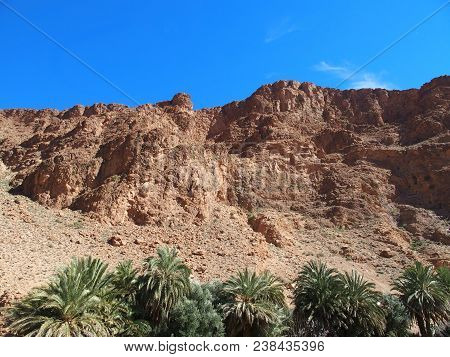 African Rocky Slope Todgha Gorge Canyon Landscapes In Morocco At Eastern Part Of High Atlas Mountain