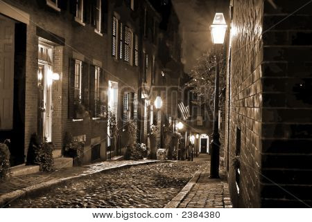 Old New England At Night