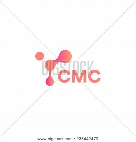 Abstract Pink Shape, Innovation Tech, Unusual Circles Connected To Each Other, Vector Modern Logo Te