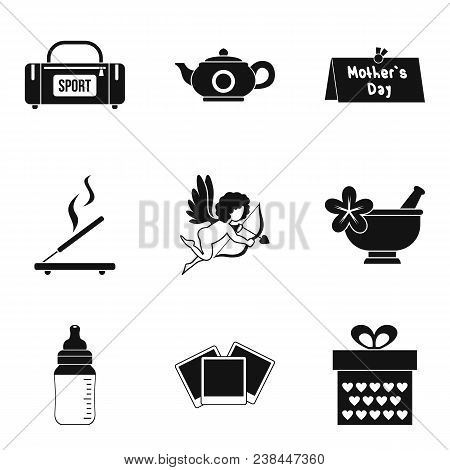 Dame Welfare Icons Set. Simple Set Of 9 Dame Welfare Vector Icons For Web Isolated On White Backgrou