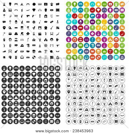 100 Recreational Activities Icons Set Vector In 4 Variant For Any Web Design Isolated On White