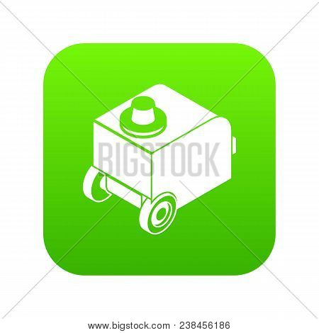 Welding Machine Icon Green Vector Isolated On White Background